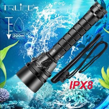 IPX8 Waterproof Professional Powerful Super bright led Scuba Diving Flashlight Diver Light LED Underwater Torch Lamp Lanterna 1