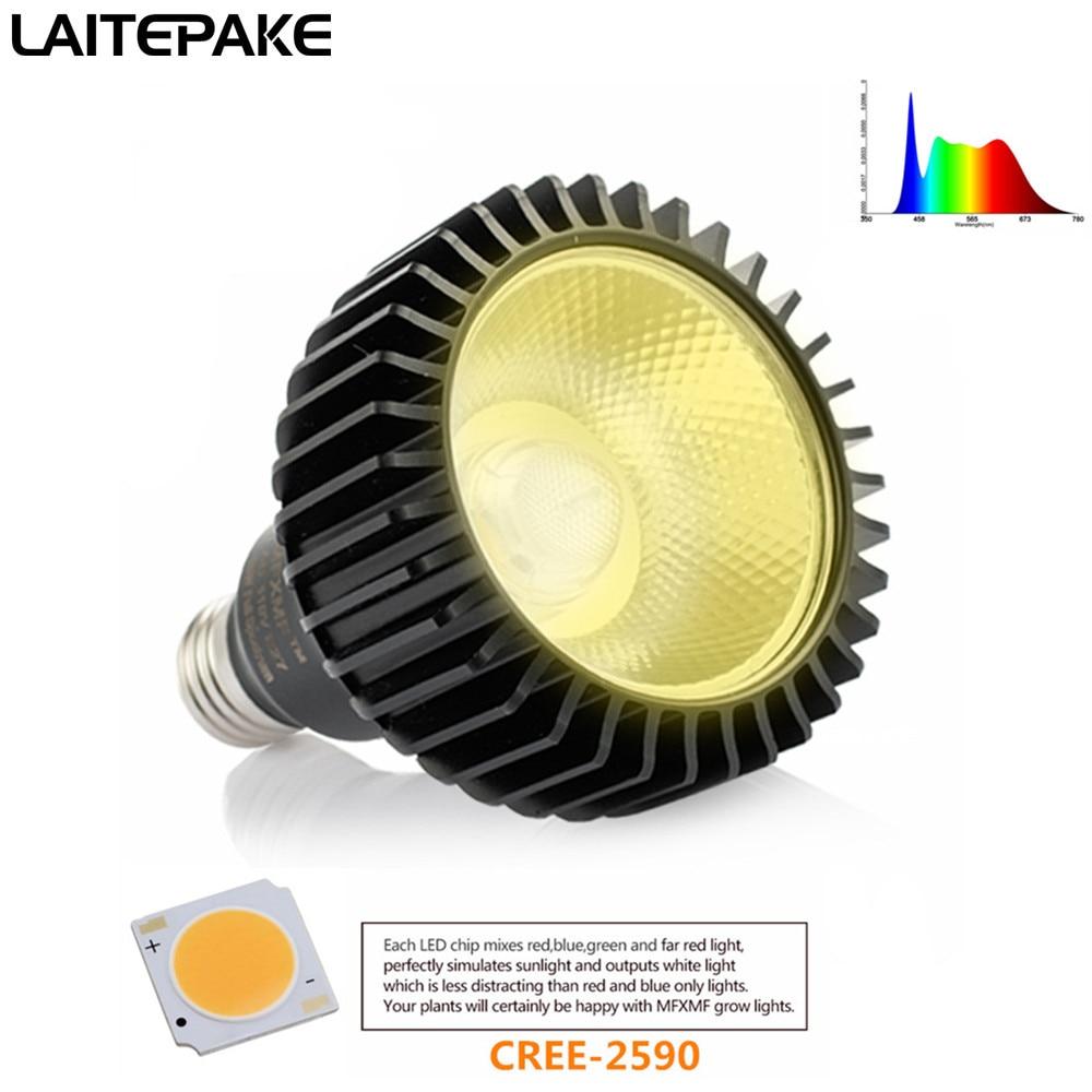 COB E27 Led Grow Light Full Spectrum 3500K 85-265V 1500LM For Indoor Plant Vegetables Grow Lamp