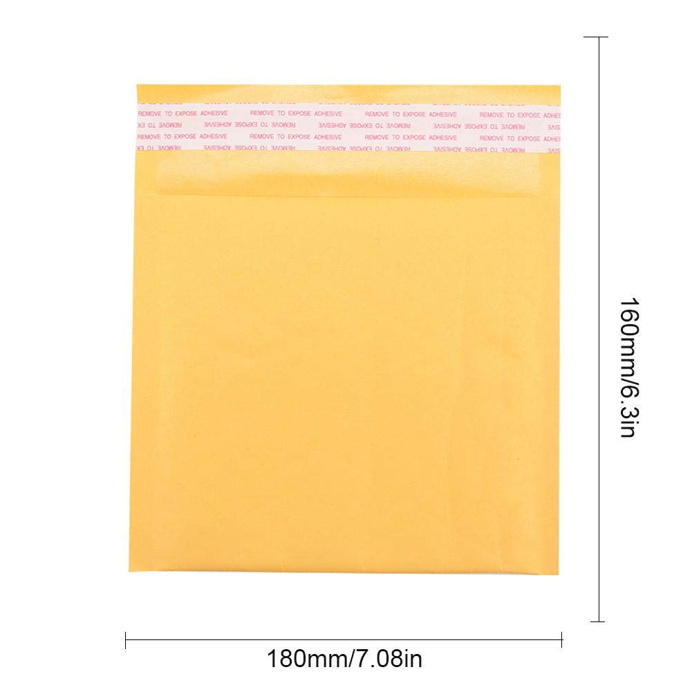 10pcs Yellow Kraft Padded Envelopes, Bubble Express Mail Bag Electricity Supplier Express For Shipping, Mailing, Packing