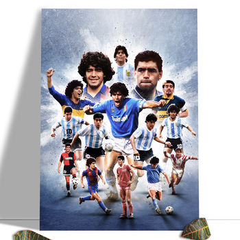 Diego Maradona Football Poster Canvas Comics Printed sports Decoration Painting Home Wall Living Study Room Child Room Bedroom 9