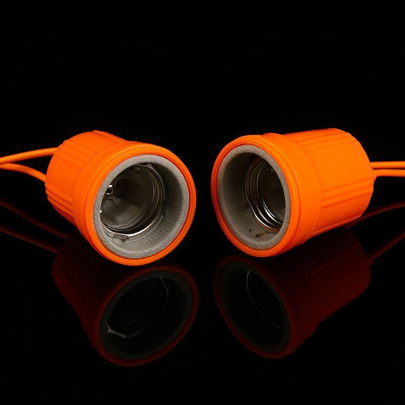 E27 Ceramic Waterproof Holder Base Screw Light Bulb Lamp Socket Flame Retardant Durable Material Safe Non Electric Leakage 40JE