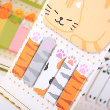 Hewan Kucing Panda Cute Kawaii Sticky Notes Memo Pad Sekolah Planner Stiker Kertas Bookmark 1 Pc(China)