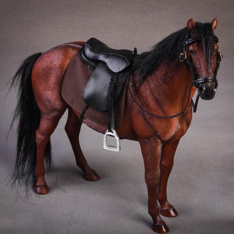 Около 21 см 1:12 моделирование ПВХ теплая кровяная лошадь крепления лошадь животное модель крепление детские игрушки украшение дома сбор пода... - 3