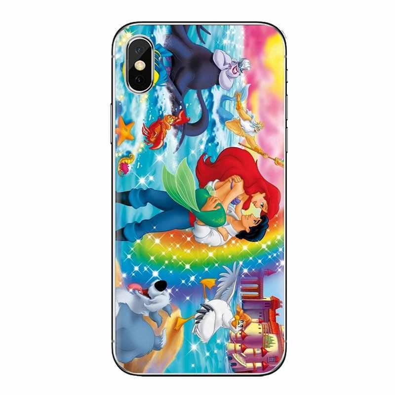 Silicone Shell Cover Little Mermaid Ariel dan Eric untuk Samsung Galaxy S3 S4 S5 Mini S6 S7 Edge S8 s9 S10 Plus Catatan 3 4 5 8 9