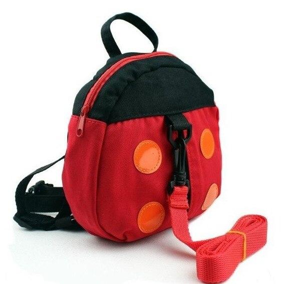 Baby Products Canvas Bag Cartoon Ladybug Anti-Lost Bag Baby Walking Wings Can Logo