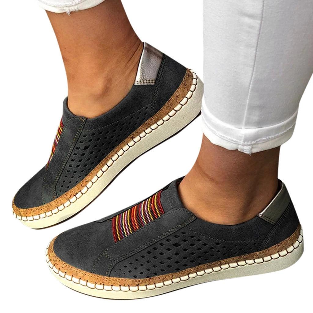 Vertvie/женские кроссовки без застежки; лоферы с закрытым носком; Вулканизированная обувь; дышащая женская Повседневная Удобная обувь на плоск...