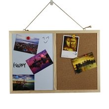 Message Cork Board Wood Frame Whiteboard Drawing Boards Combination Bulletin Magnetic Marker Board