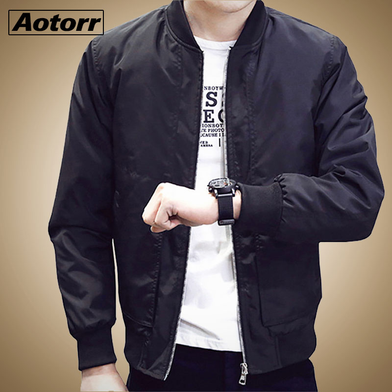 Coats Outwear Bomber-Jacket Casual Fashion Mens Baseball-Collar Spring Hip-Hop Male Autumn