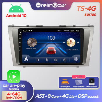 Prelingcar Android 10 For Toyota Camry XV 40 50 2006-2011 Car Radio Multimedia Video Player GPS Navigation NO DVD 2 Din 4G-64GB image