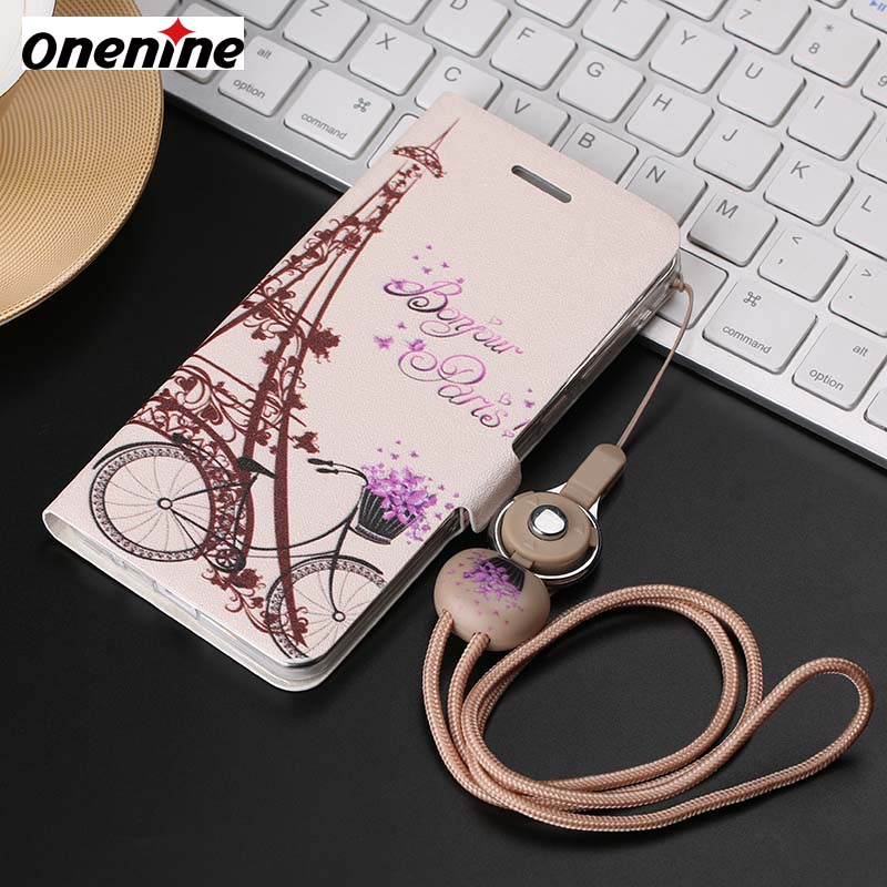 Luxury Protective <font><b>Case</b></font> for <font><b>VIVO</b></font> <font><b>Y35</b></font> <font><b>Case</b></font> Leather Flip Cover 5.0 inch Wallet Card Shockproof Cover 3D Cartoon Back Cover for Girl image