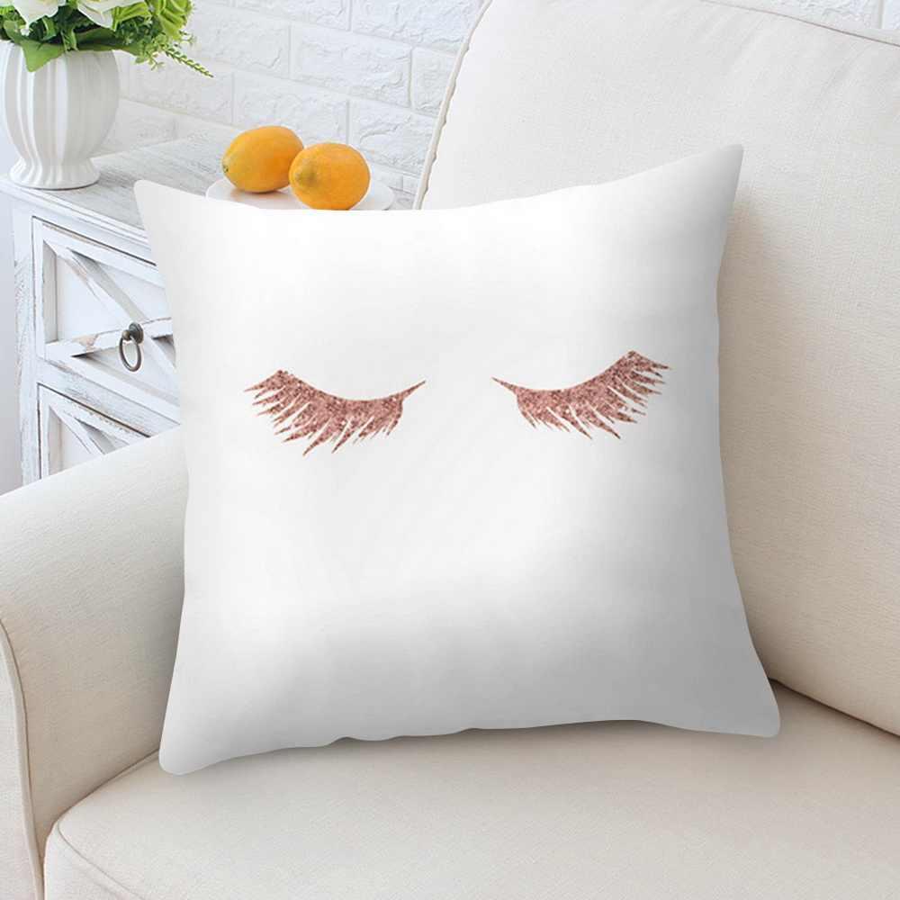 2019 新着ローズゴールドピンクソフト感スクエア枕旅行枕リビングルームのためのスロー枕ホット