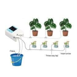 Urządzenie do automatycznego nawadniania słonecznego ogród doniczkowy pompa wodna zegar System nawadniania kropelkowego roślin narzędzia ogrodnicze