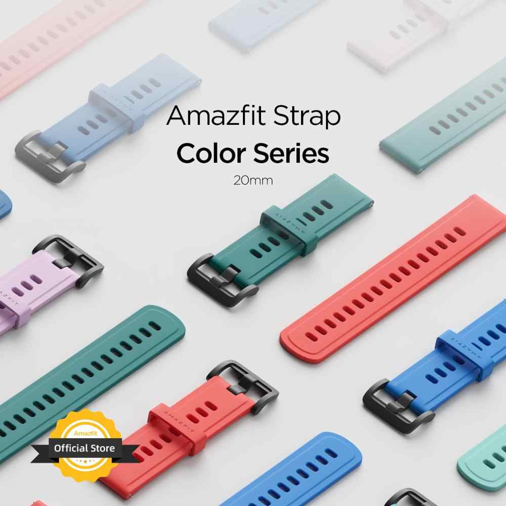 20MM oryginalny pasek Amazfit pasek do smartwatcha do oryginalnego Amazfit Bip tempo Stratos GTR zegarek Amazfit Smartwatch