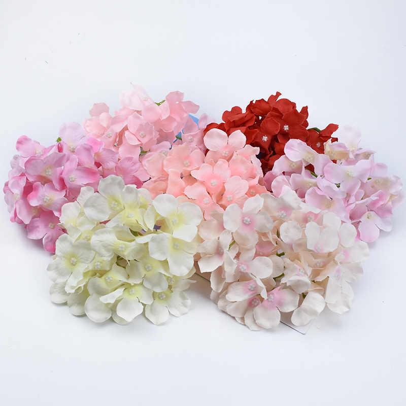 2/5/10 pezzi di Seta Hydrangea wedding fiori decorativi della parete di natale ghirlande home decor finto floristics fai da te fiori artificiali