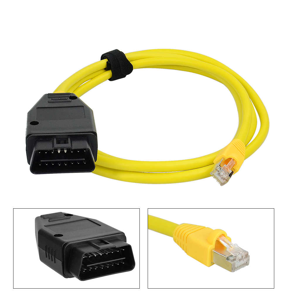 HOT!!! ESYS ข้อมูลสำหรับ BMW F-Serie ENET Ethernet OBD E-SYS ICOM Coding OBD2 รถยนต์ Automotivo Diagnostic สาย