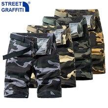 2021 homens verão novo tático algodão carga shorts homens streetwear bolsos shorts masculino casual moda solta camuflagem shorts 28-38