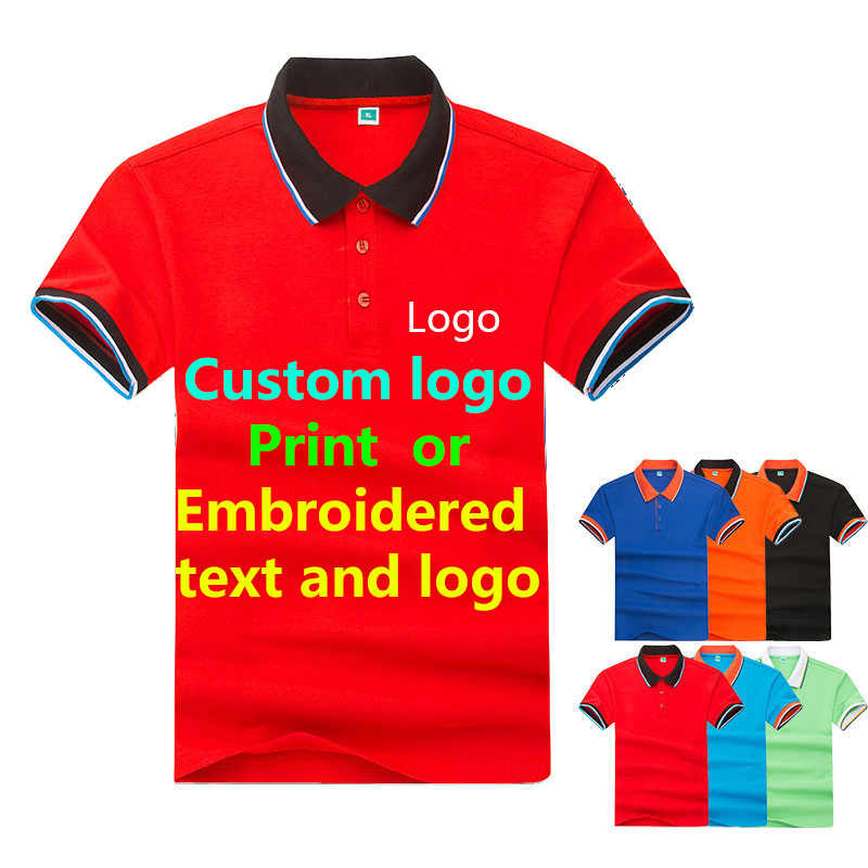solid color Polo shirt men's and women's bar waiter overalls custom embroidery logo advertising shirt factory clothing print