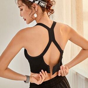 Image 2 - Frauen Push Up Nahtlose Sport Bh Workout Weibliche Sport Top Crop Fitness Active Wear Für Yoga Gym Büstenhalter frauen sportswear