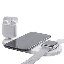 Qi 3 in 1 Quick Wireless Phone Charger QC3.0 Fast Charging Pad Base Docking For Airpods Iphone X 8 XR XS 11 Apple iWatch 5 4 3 2