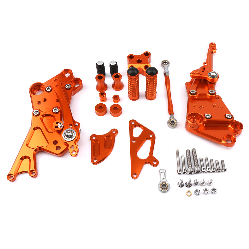 For KTM Duke 125 200 390 11-17 Adjustable Rider Rear Sets Rearset Footrest Foot Rest Pegs Footpegs CNC Racing Motor Accessories