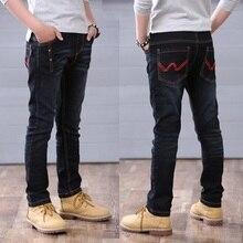 Calças meninos primavera outono preto jeans casual crianças calças jeans meninos adolescentes calças crianças calça casual 4 14 Y meninos outwear