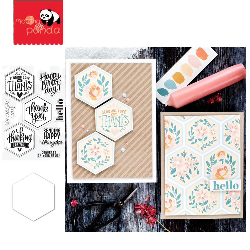 HEXAGON GREETINGS Metal Cutting Dies And Stamps Stencils For DIY Scrapbooking Die Cuts Paper Craft Dies For Card Making