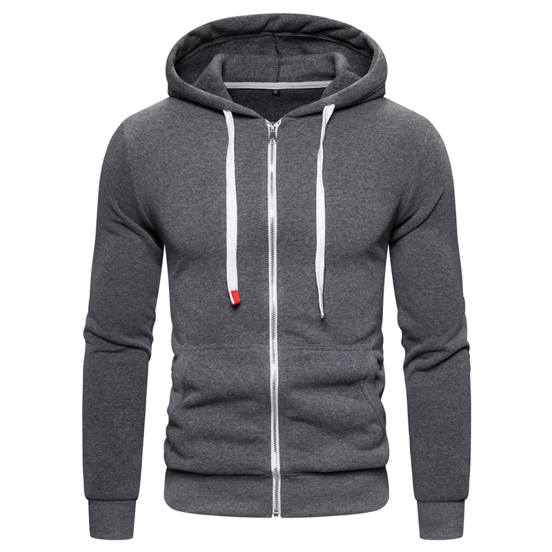NEGIZBER Brand Quality Cotton Hoodie Men Solid Casual Thick Fleece Men's Winter Sweatshirts Fashion Slim Fit Hooded Men Hoodies