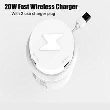 20w carregador sem fio móveis desktop incorporado rápido carregador sem fio para iphone 11 pro x 8 samsung mesa escritório telefone carregador