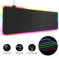 RGB Maus Pad Gaming Mouse Pad Computer Große Mauspad Backlit XXL Maus Pads LED Gamer Mause Teppich 900x400 schreibtisch Matte Für CS