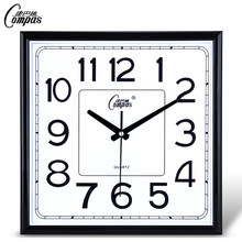 Geometric Office Wall Clock Silent Classic Square Home Clocks Simple Quartz Reloj De Pared Moderno Decorative Home Watch AA50WC(China)
