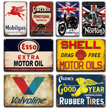 Kreidler Motorcycles Metal Tin Sign Poster Vintage Garage Home Decor Retro BP Shell Esso oils Signs Living Room Wall Decor(China)
