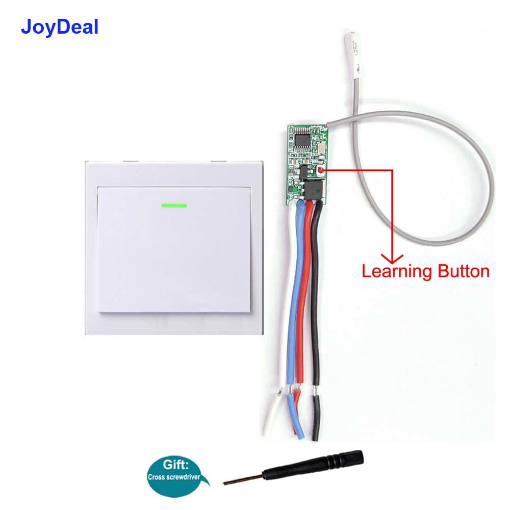 0-3 joydeal wireless rf micro 1ch led lamp remote control switch