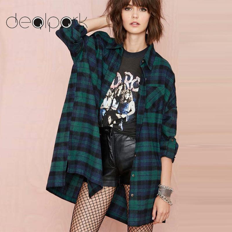 3XL 4XL 5XL Plus Size Korean Tops Plaid Shirts Women Blouses Tartan Shirt Long Sleeve Baggy Check Blouse Oversized female tunics
