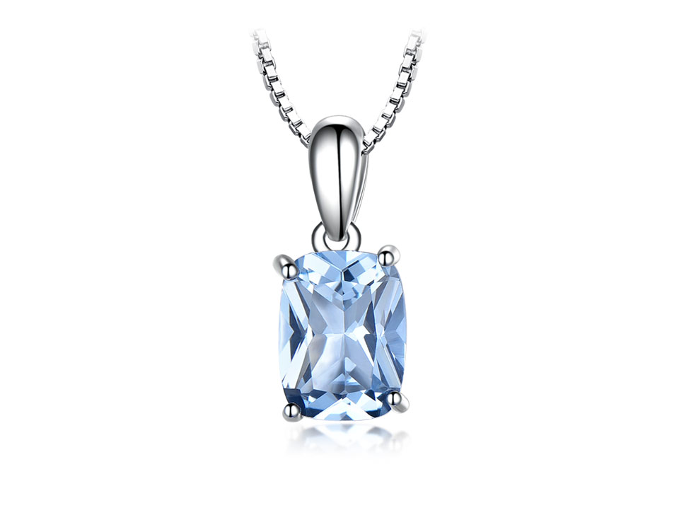 UMCHO Sky blue topaz silver sterling jewelry sets for women S011B-1-PC (2)