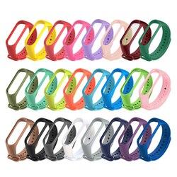 Colors strap for Xiaomi Mi Band 5 4 3 Sport Strap watch Silicone wrist strap For xiaomi mi band 3 4 bracelet Miband5 4 3 Strap