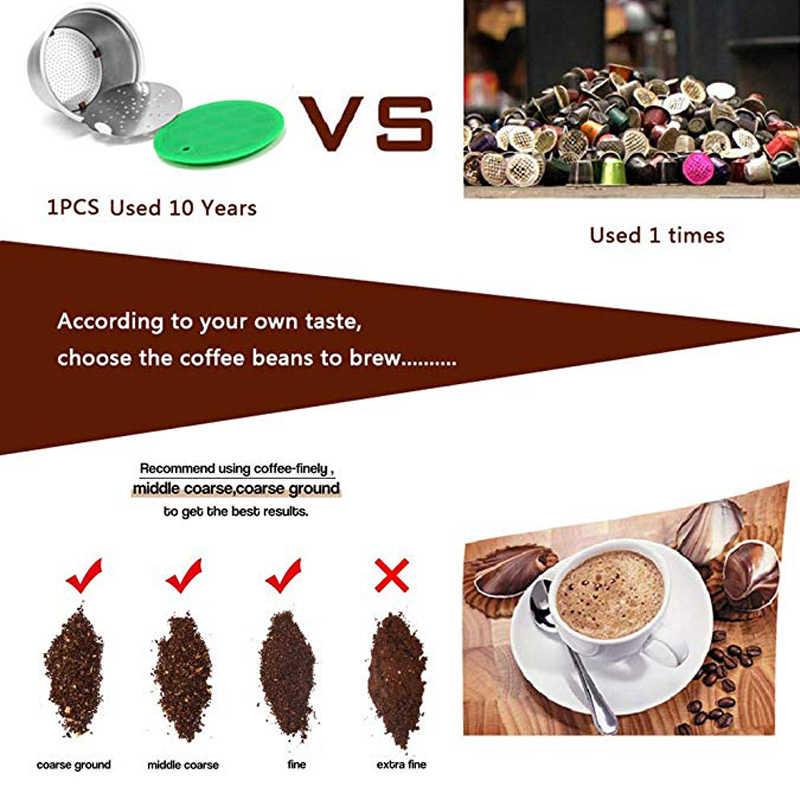 Капсула из нержавеющей стали, многоразовые, многоразовые, для кофе, filte, совместимые, перманентные, для кофе, многоразовые, kahve
