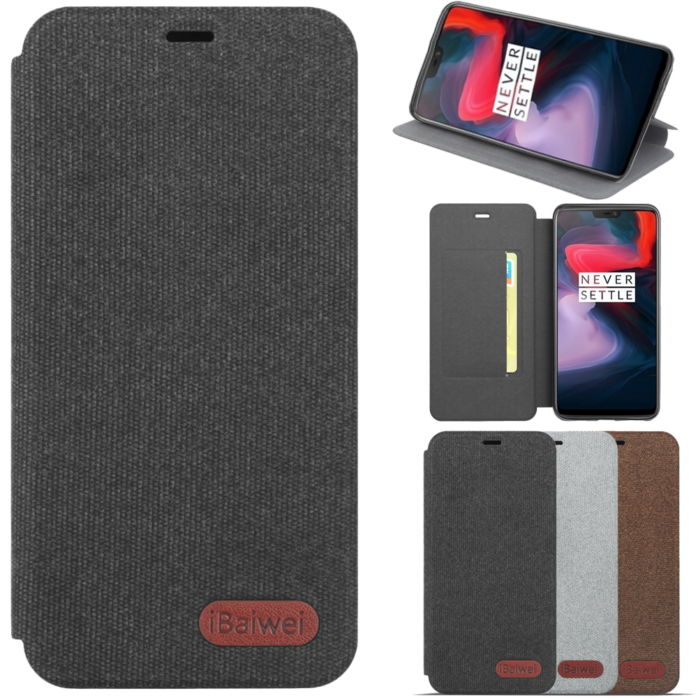 Hand made for Oneplus 5T Case Luxury Canvas Case for OnePlus 5T Wallet Flip Cover One Plus 5T 5 T A5010 6.01 Fundas coque Capa image
