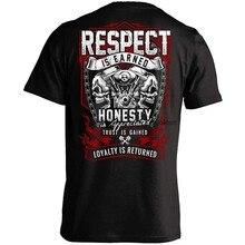 Camiseta o respeito é ganho lealdade é devolvido preto