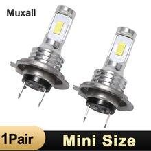 Muxall – ampoules de voiture, LED H7 H4 H11 H1 9005 9006 HB2 HB3 HB4 80W 12000Lm DC12 24V blanc 6000k, Source de style