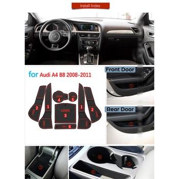 アウディ A4 B8 2008 2009 2010 2011 A4 8 18K RS4 S4 s ライン RS 抗スリップゴムゲートスロットカップマットコースターアクセサリー車のステッカー