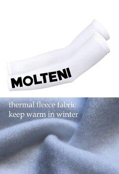 Invierno Polar térmico 2020 MOLTENI TEAM 2 colores Ciclismo Armwarmer sol protección UV Ciclismo calentadores de brazo un par tamaño S-3XL