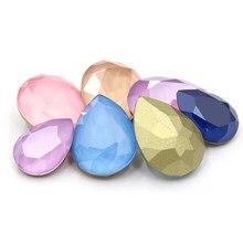 10 pçs mix mocha série brilhante lágrima gota k9 vidro solto strass piontback strass cristal cola em roupas jóias acessórios