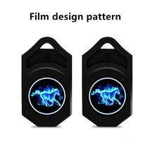 2 шт. дизайн пленки узор только логотип для Ghost Shadow светильник двери автомобиля Добро пожаловать светильник любезно led автомобиль лазерный проектор логотип