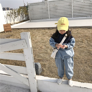 Image 5 - 2019 Autumn New Arrival Korean style clothing sets letters printed hooded matching coat with long pants fashion suit for girls
