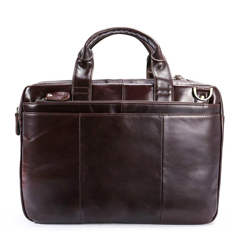 2019 Business Bag Men Briefcases Genuine Leather Handbags Tote Computer Bags For Laptop Messenger Bag Men Laptop Male Briefcase
