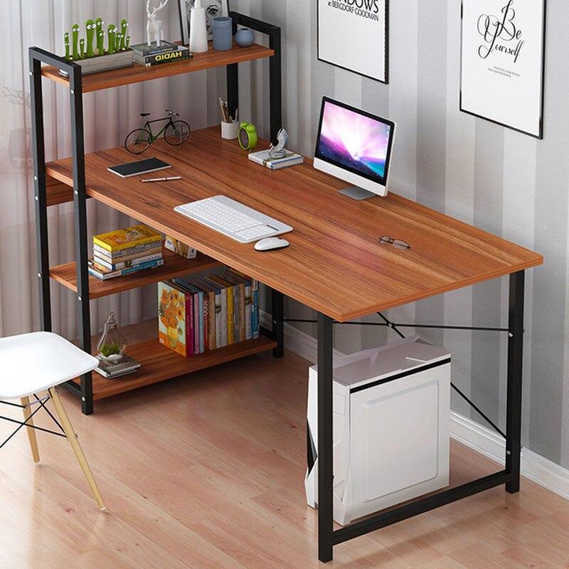 Computer Desk Bookshelf Combination Table Desktop Desk Home Office Study Working Table Space Saving 120cm*55cm