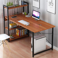 Computer Desk Bookshelf Combination Table Desktop Desk Home Office Study Working Table Space Saving 120cm*55cm