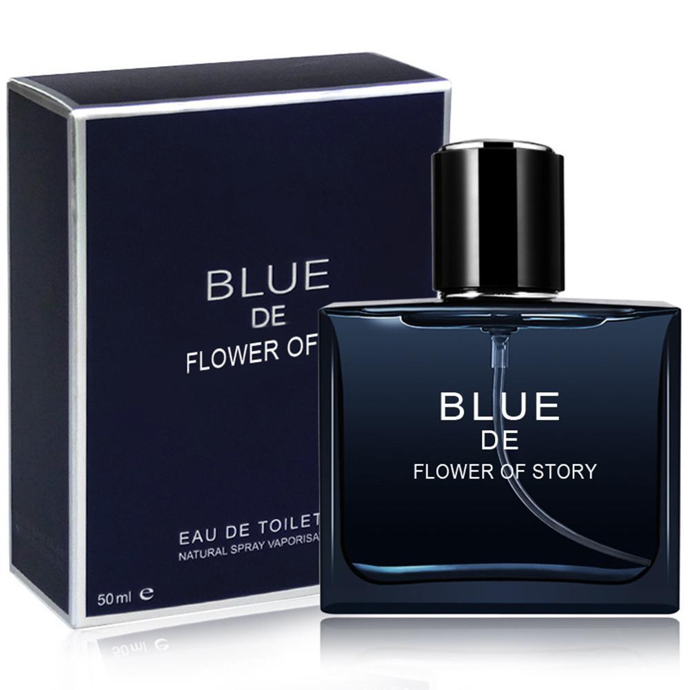 VIBRANT GLAMOUR 50ml Long Lasting Men Perfume Marine Woody Body Spray Glass Bottle Perfumes Classic Gentleman Male Fragrance
