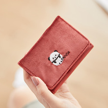 все цены на Leather Women Wallet Fashion Coin Purse for Girls Female Money Bag Card Holder Clutch Short Cute Small Wallet Women 2019 онлайн