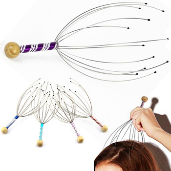 1PC Octopus Head Scalp Relaxation Massage Pain Relief Body Massager Stress Release Relaxing Claw Metal Massager Device Unisex 1